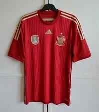 SPAIN NATIONAL FOOTBALL TEAM 2014/15 HOME SHIRT SOCCER JERSEY CAMISETA ADIDAS(L)