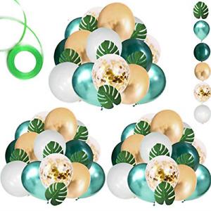 """Paquete de 68 globos para baby shower Jungle Safari 12"""" verde blanco dorado"""
