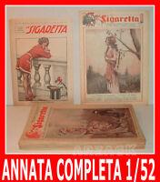 LA SIGARETTA annata completa XIX NERBINI 1924 rivista erotica satira umoristica