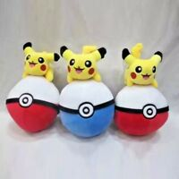 Pokemon Go Pikachu on Pokeball 24cm Plush Toy Stuffed Toy