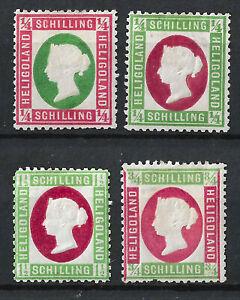 HELGOLAND 1873 Full Set Mint, MH