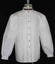 """ALPHORN COTTON White LACE & PLEATS German Dress Suit Skirt BLOUSE Top/B 44""""/16 L"""