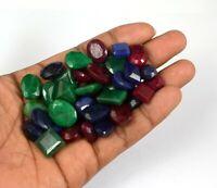 302 ct natürliche Mischungsform Smaragd, Rubin & Saphir Edelstein Großhandel Lot
