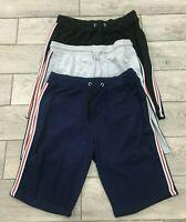 Mens Fleece Shorts Elasticated Waist Jersey Summer Jogging Running Shorts S-XL