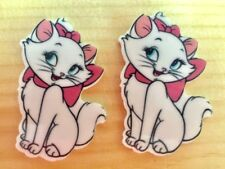 Disney Marie The Cat Inspired Planar Resin-Cabochon-Plastic-Bow Center-Craft