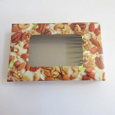 "Candy Boxes Lot of 20 Nut Window Wedding Party Treat Gift Favor 5.5""  x 3.5"""