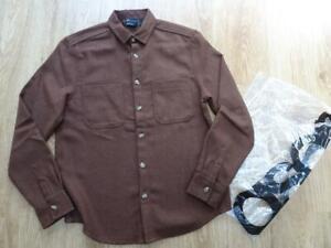ASOS mens brown wool mix winter over shirt / shacket MEDIUM LONG NEW