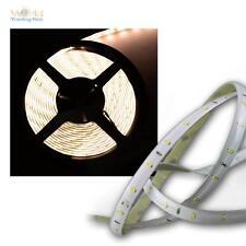 ( 6,12€/m ) SMD LED lichtband 4,8m Blanco Cálido 12v Tira Flexible Barra De Luz