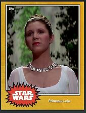 Topps Star Wars Card Trader Princess Leia Gold Insert Card DIGITAL