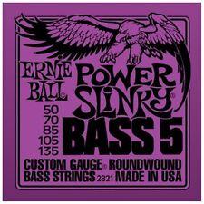 Ernie Ball 2821 Power Slinky 5 Cuerdas Bajo Cuerdas 50-135