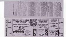 1969 AMERICAN LEAGUE CHAMPION TICKET TIGERS PHANTOM STADIUM DETROIT