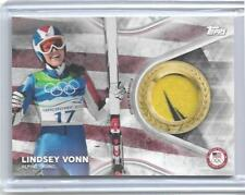 SWEET 2018 TOPPS OLYMPICS LINDSEY VONN 2 COLOR RELIC CARD /99 ~ ALPINE SKIING