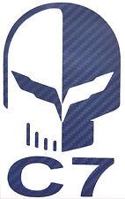 "C7 Corvette JAKE Decal 3""x5"" 3D Carbon Fiber Vinyl NAVY BLUE  buy 2 GET 1 FREE"