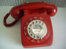 GPO BT 8746G RED ROTARY TELEPHONE RETRO STYLE - FREEPOST