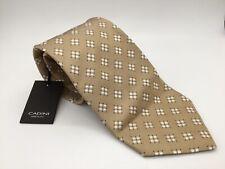 Cadini Neck Tie Silk NEW Necktie Neckwear Brown Tan Blue White