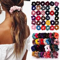 Wholsale Hair Scrunchies Velvet Scrunchy Bobbles Elastic Hair Bands Holder UK