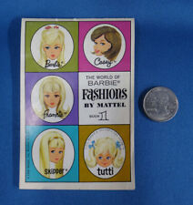 THE WORLD OF BARBIE FASHIONS booklet no 1 printed USA 1966 MATTEL