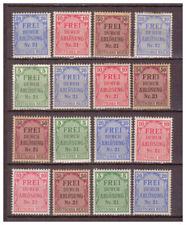 Deutsches Reich Sammlung Zähldienstmarken von Preußen aus Mi.1-8 ungebr. Falz