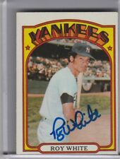 1972 TOPPS #340 ROY WHITE AUTOGRAPH NEW YORK YANKEES 9248
