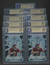 Lot of (9) 2018 Leaf 70th Anniversary Purple Black Blue Baker Mayfield BGS 9.5