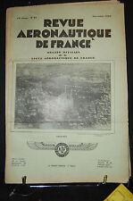 revue aéronautique de france , AVIATION  1929; Nov. N°11, SOMMAIRE VOIR PHOTO