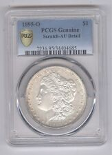 1895-O Morgan Silver Dollar + PCGS Genuine + AU Detail + No Reserve!