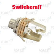 """Switchcraft ® SCL12 Jack stereo input 1/4"""", inch, extra long thread"""