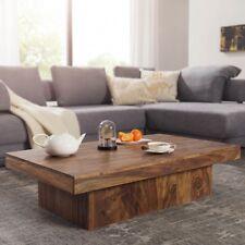 Massiver Couchtisch KOTA Sheesham Holz 120 cm Wohnzimmertisch Massivholz Tisch