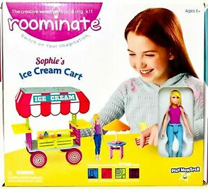 Roominate Sophie's Ice Cream Cart Develops STEM Skills Role Play Toy Age 6 & Up