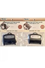 WAHL PREMIUM CUTTING GUIDES  GUARDS WITH NON SLIP METAL CLIP 2 PCS #1/2 & #1