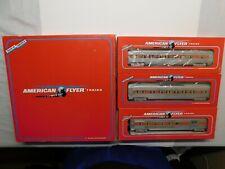 S Gauge - American Flyer - New Haven Set of (3) Passenger Car Train 6-49605 RARE