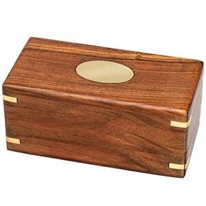 Puzzle Box Money Holder Compartment Wooden Gift Brainteaser Cash Hidden