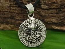 Thors Hammer Runen 925 Sterling Silber Anhänger Amulett Thor Keltenschmuck