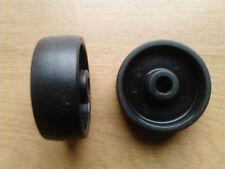 2 Stück Rad Rolle Ø 50mm Kunststoff Schwarz Achsloch 8 mm Tragfähigkeit 30kg
