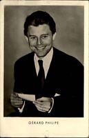Schauspieler Foto-Postkarte DDR ~1956 Porträt-Foto Kino Film von Gérard PHILIPE
