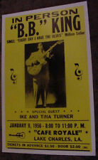 BB B.B. KING VINTAGE 1956 1950'S BLUES guitar CONCERT POSTER tina turner art la