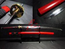 "40.6"" Hand forged Japanese warrior tsuba katana red saya blunt edge"
