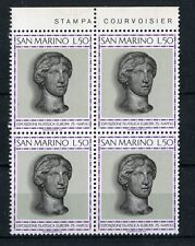 San Marino 1975 Mostra francobollo europa in QUARTINA Mnh