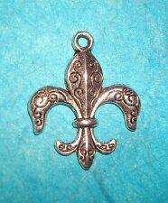 Pendant Fleur de Lys Charm New Orleans Saints Charm French European Spiritual