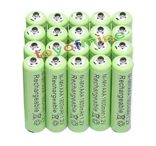20pcs AAA 3A 1800mAh 1.2V NiMH Recharge Rechargeable Battery Cell Green Color