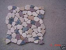 TRAVERTINE MOSAIC pebble TILE MARBLE FREE SHIPPING