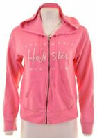HOLLISTER Womens Hoodie Sweater Size 10 Small Pink Cotton  J104