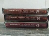 Woodstock Three Days Of Peace & Music 3 Cassette Tapes