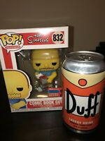 Comic Book Guy Funko Pop Nycc 2020 Shared Exclusive! Free Duff