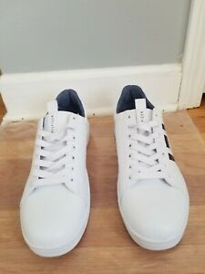 Tommy Hilfiger Logo White Casual Lace Up Fashion Sneakers Shoes Men's 9