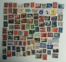 More details for 100 different croatia stamps collection