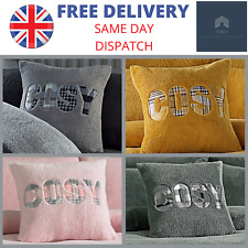 Ultra Cosy Comfortable Teddy Fleece Cushion Cover Pillow Case - 43x43cm