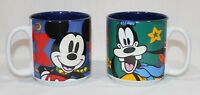 Disney Mugs Mickey & Goofy  Christmas theme Disney Store blue Mickey Mouse