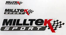 Milltek Sport Black Sticker Pack Fan Owner Stickers Decals Emblems Ford Vauxhall