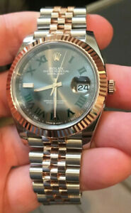RARE ROLEX 2021 EVEROSE/STEEL DATEJUST 41MM Slate DIAL OYSTER PERPETUAL 126331